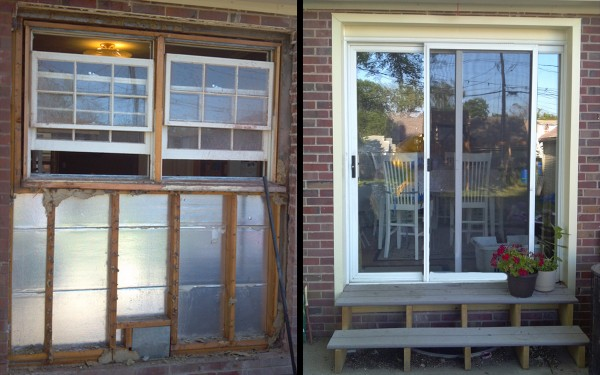 Sliding Glass Door - Before and After